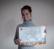 Geisiene Souto obtiene el diploma de su curso