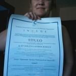 Violeta Lacrima obtiene el Título de Formación Universitaria